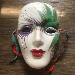 Other - Vintage Mardi Gras Ceramic Mask Wall Decor